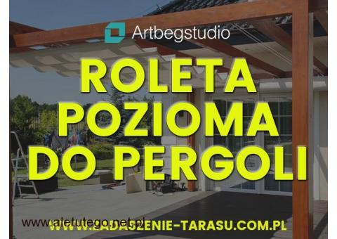 Roleta pozioma do pergoli