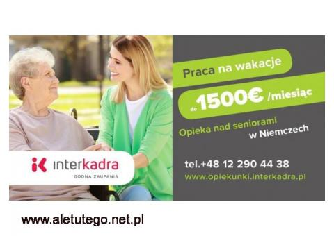 Opiekun/ka do Seniorki Erny z premią do 1500 EUR